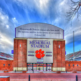 Clemson University Death Valley Sign Clemson Tigers Football Architectural Art by Reid Callaway