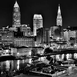 Cleveland Rare View Monochrome by Frozen in Time Fine Art Photography
