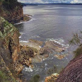 Cliffs at Blackmans Bay by Tony Crehan