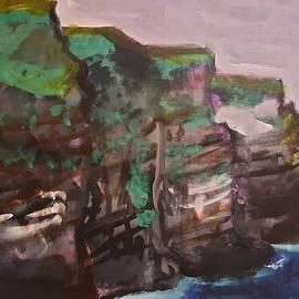 Cliffs of Moher Techno color