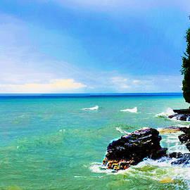 Cliffside View by Diamante Lavendar