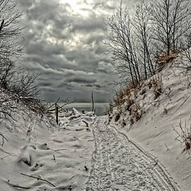 Climbing Up Snowy Dunes by Phill Doherty