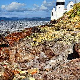 Cloch Lighthouse Scotland by Marcia Colelli