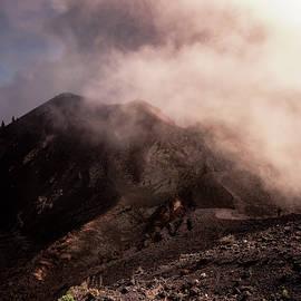 Cloud Chasing Volcano De La Deseada by Marta Dabrowska