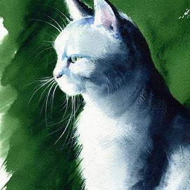 Cloud Gazing Light - Cat Painting by Dora Hathazi Mendes