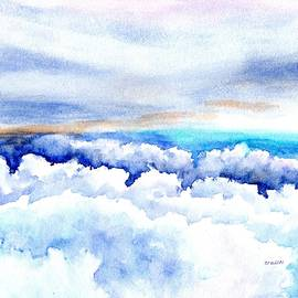 Clouds Above and Below by Carlin Blahnik CarlinArtWatercolor
