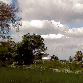 Clouds Over Landway Cottage by Nigel Hirst