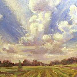 Clouds Over Mowed Field by Robie Benve