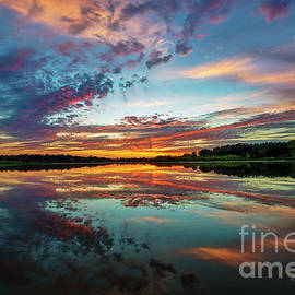 Clouds over the Lake at Sunset by David Arment
