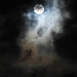 Cloudscape with Snow Moon 3 by Beatriz Portela