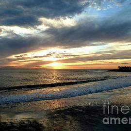 Cloudy Shoreline Sunset by Julieanne Case