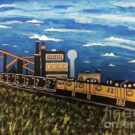 Coal Mine The Last Train Painting by Jeffrey Koss by Jeffrey Koss