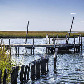 Coastal Weathered Dock by Colleen Kammerer