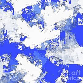 Cobalt Blue Abstract  by Tina LeCour