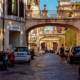 Cobble Stone Street in Rome by Andrew Cottrill