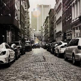 Cobblestone road by Robert Villano