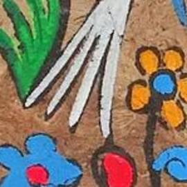 Cockatoo Palms Painting Original Design Version by Joseph Baril