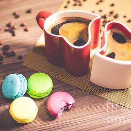 Coffee and French Macaroons by Alice Terrill