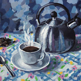 Coffee and Kettle by John Wallie