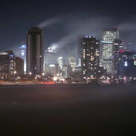 Cold Winter Night Calgary, Alberta, Canada. by Yves Gagnon