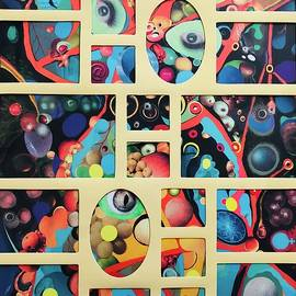 Collage meets collage mat by Douglas Fromm
