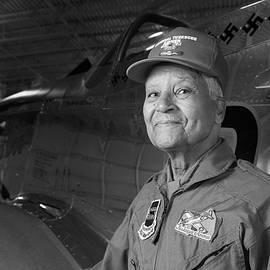 Colonel Charles McGee, USAAF Red Tailed P-51 Fighter Pilot, Tuskegee Airman by Pilots And Partisans Then and Now