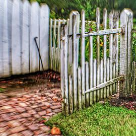 Colonial Garden Abstract by Kathi Isserman