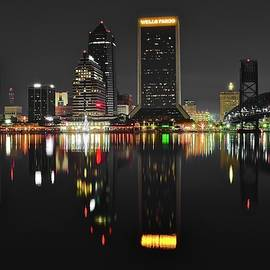 Color and Black Night in Jacksonville by Frozen in Time Fine Art Photography