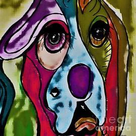 Color Block Beagle by Eloise Schneider Mote