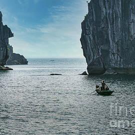 Color Limestone Islands Ha Long Bay Vietnam UNESCO Site  by Chuck Kuhn