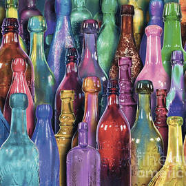 Colored Bottles by Kim McCaffrey