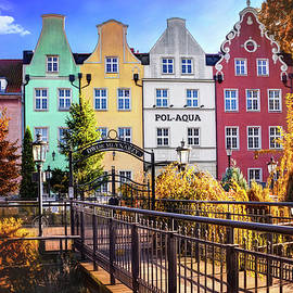 Colorful Architecture of Gdansk Old Town Poland by Carol Japp