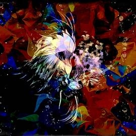 Colorful Betta Fish Abstract Portrait  by Scott Wallace Digital Designs