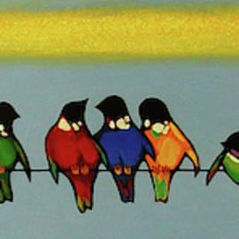 Colorful birds by Abgar Kh