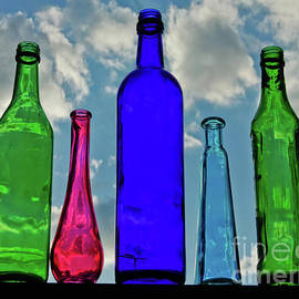 Colorful Bottles in the Sky  by Carol F Austin