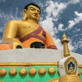Colorful Buddha in Mongolia by Martin Vorel Minimalist Photography