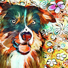 Colorful Collie by Tina LeCour