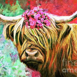 Colorful Cow by Tina LeCour