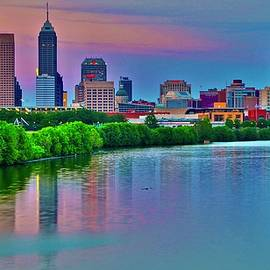 Colorful Days End in Indy by Frozen in Time Fine Art Photography