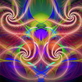 Colorful Fractal lines and patterns by Matthias Hauser