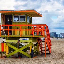 Colorful Lifeguard Tower by Barbara Zahno