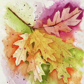 Colorful Oak Leaves by Deborah League