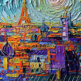 COLORFUL PARIS ROOFTOPS detail 1 by Mona Edulesco