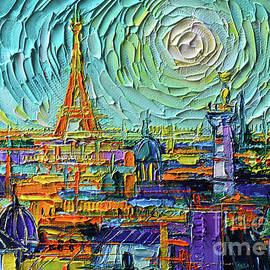 COLORFUL PARIS ROOFTOPS detail 2 by Mona Edulesco