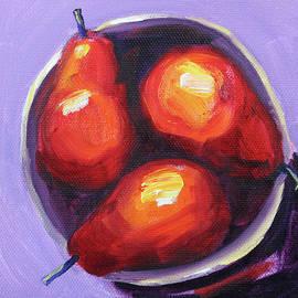 Colorful Pears by Nancy Merkle
