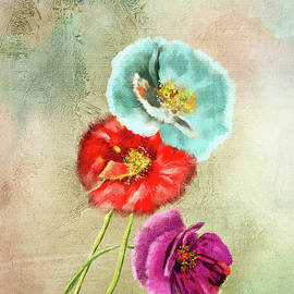 Colorful Poppies by Mary Timman