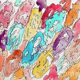 Colorful Shells - Pattern abstract by Patty Donoghue