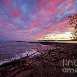Colorful Skies of Marquette by Jane Tomlin