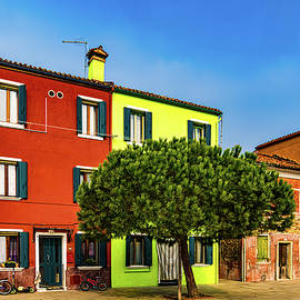 Colorful Street In Burano by Chris Lord
