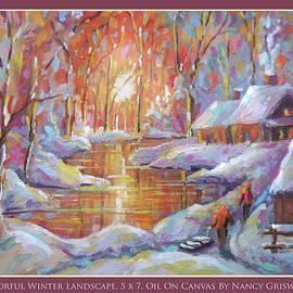 Colorful Winter Landscape by Nancy Griswold